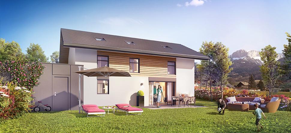 Annonce vente maison villaz 74370 88 m 384 000 for Annonces immobilier neuf